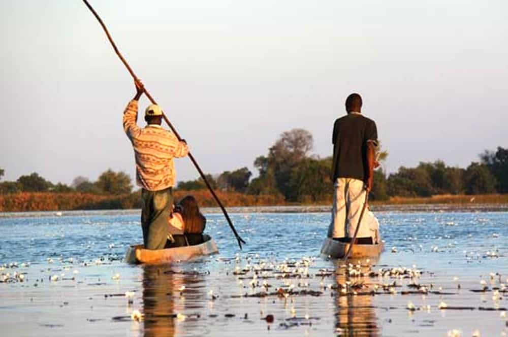 Mokoros on the Okavango Delta